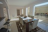 Dining Area In Luxury Villa Show Home Showing Interior Design Decor Furnishing With Dining Table And poster