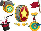 picture of unicycle  - Illustration Featuring Circus Related Items - JPG