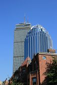 image of prudential center  - Back Bay office towers as seen from the South End - JPG