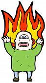 picture of ogre  - cartoon flaming ogre monster - JPG