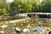 pic of swales  - A view of the waterfall on the river swale in north yorkshire - JPG