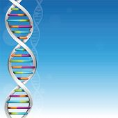 stock photo of dna  - DNA science background with plenty of copy space - JPG