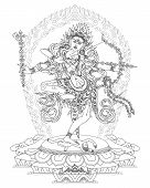 pic of tantric  - Kurukulla is a Tibetan Buddhist Deity - JPG