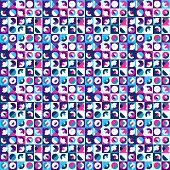 Seamless Geometric Pattern, Saturated Bright Colors. Appropriate For Fabric Materials, Packing Mater poster