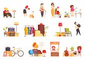 Garage Sale Items Sellers Buyers Visitors  Used Clothing Furniture Bicycle Musical Instruments Tv Se poster