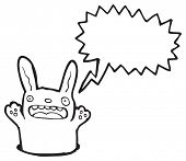 image of rabbit hole  - cartoon rabbit in hole - JPG
