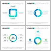 Creative Business Cycle Infographic Designs. Can Be Used For Workflow Layout, Annual Report, Present poster