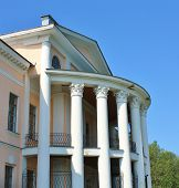 stock photo of corbel  - Construction built in the classical style with columns and entablature - JPG