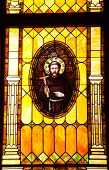 Friar Junipero Serra Stained Glass Immaculate Conception Church Old San Diego Town California