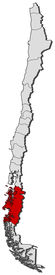picture of ibanez  - Political map of Chile with the several regions where Ais - JPG