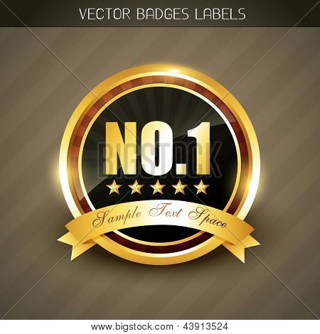 best quality no. 1 golden product promotion vector label