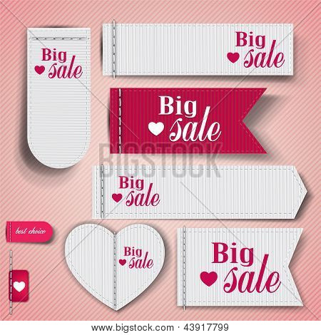 """Set of bubbles, stickers, labels, tags """"Big Sale"""". Vector template"""