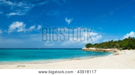 Beautiful tropical beach on St Martin Caribbean