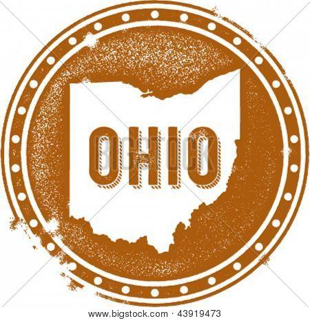 Vintage Ohio USA State Stamp