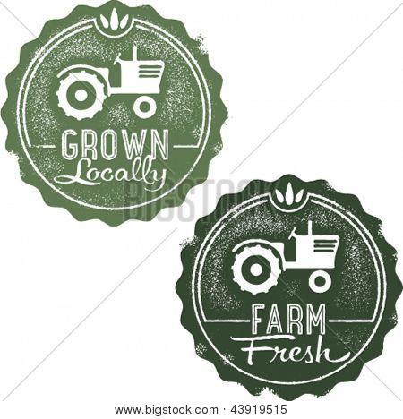 Grown Locally Farm Fresh Stamps