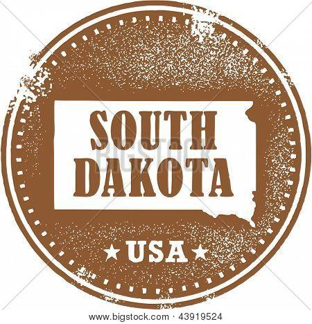 Vintage South Dakota USA State Stamp