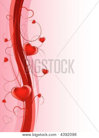 Glossy Heart Background