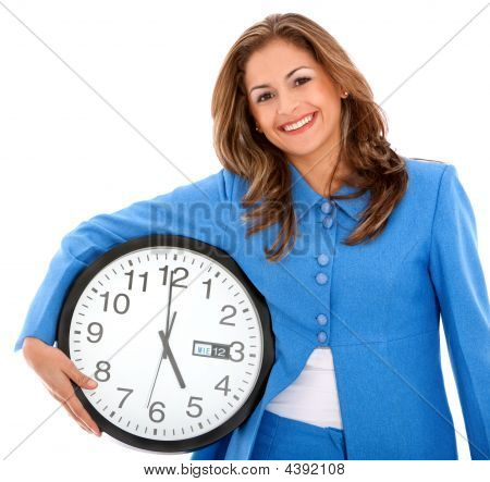 Woman With Clock
