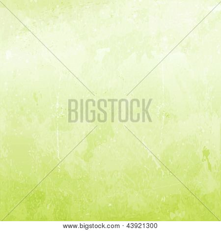 Abstract distressed background in shades of light green.