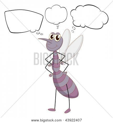Illustration of a firefly with empty callouts on a white background