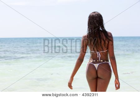 Beach Woman Relaxing