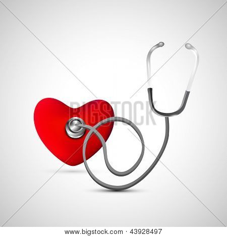 Heart with Stethoscope.