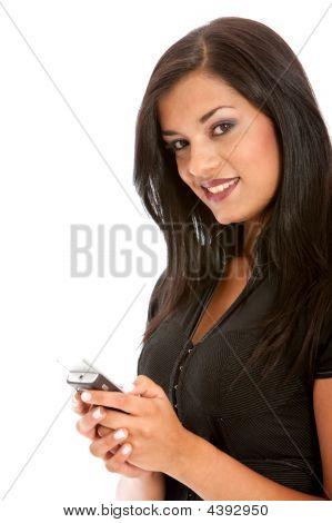 Texto do telefone móvel