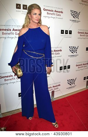 LOS ANGELES - MAR 23:  Shannon Tweed arrives at the 2013 Genesis Awards Benefit Gala at the Beverly Hilton Hotel on March 23, 2013 in Beverly Hills, CA