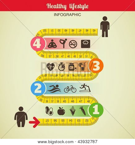Fitness and diet infographic