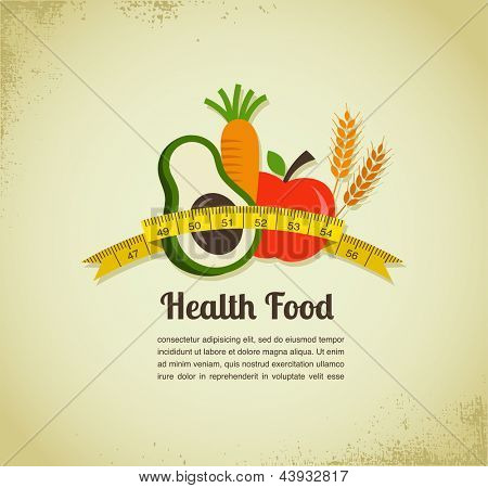 Health food and diet background