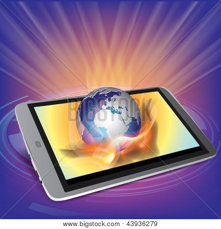 Generic tablet PC with globe