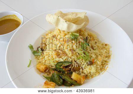 Indian Nasi Briyani Rice Dish