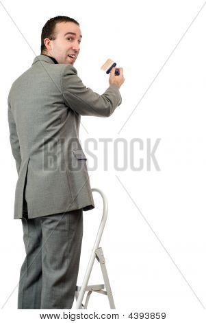 Painting Businessman