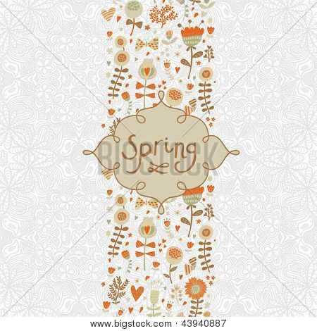 Spring concept floral seamless pattern. Romantic vintage background. Seamless pattern can be used for wallpapers, pattern fills, web page backgrounds, surface textures.