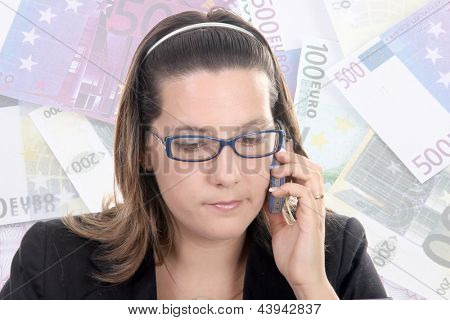 beautiful businesswoman on the cell-phone