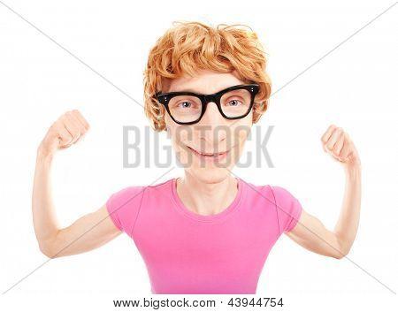 Funny nerdy athlete