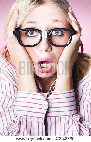 Hysterical Business Woman Having Panic Attack