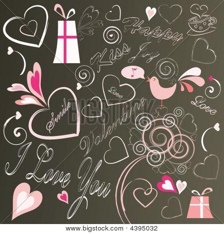 Valentine Design Elements