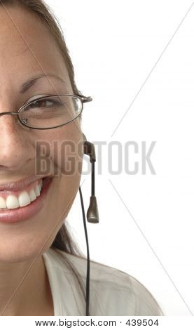 Cropped Headset Girl