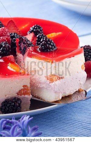 Piece Of Fruit Yogurt Cake
