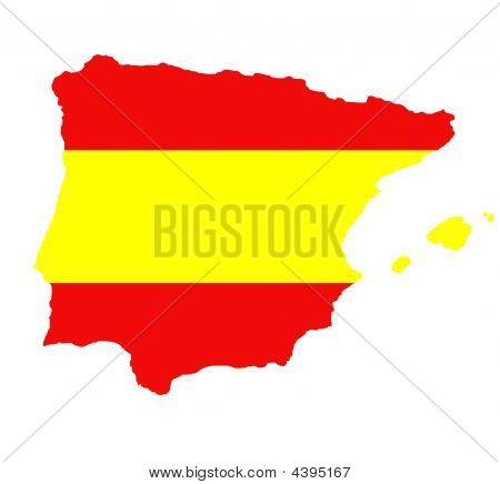 Outline Map Of Spain On White