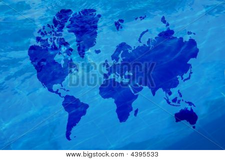 Map Of The World And Water