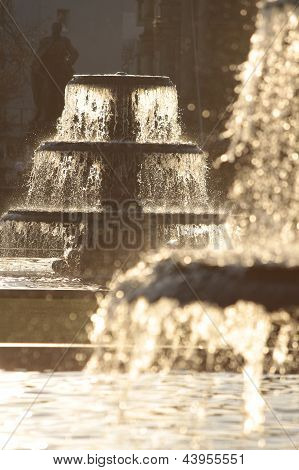 Fountains In Winter