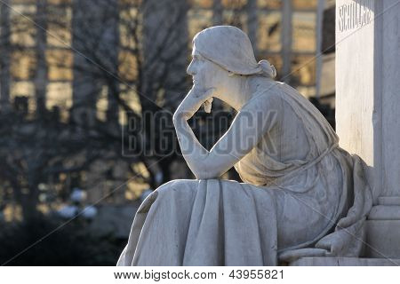 Monument Thinking Woman