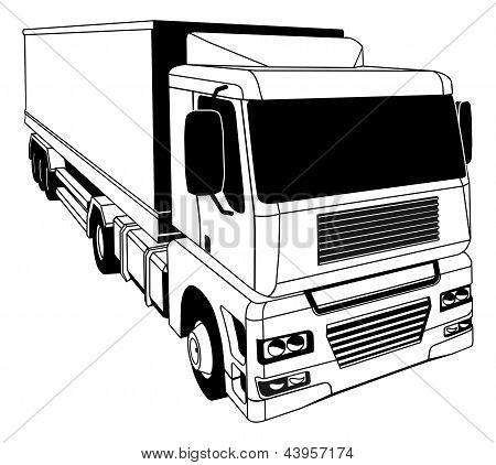 Black And White Semi Truck