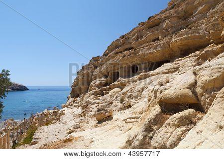 Matala Caves, Crete, Greece.