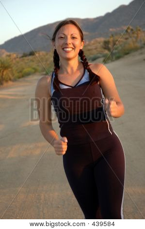 Smiling Running Woman