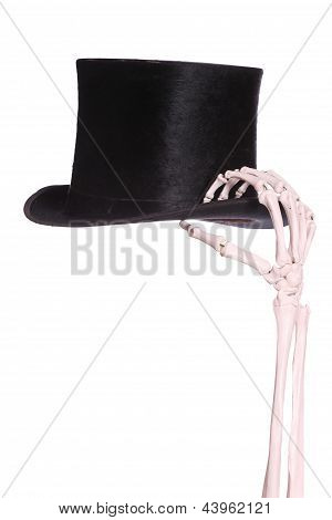 Old Hat With Skeleton Hand