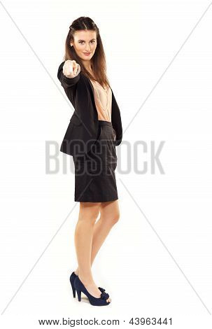 Corporate Woman Pointing At You