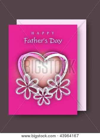 Greeting or gift card for Fathers Day celebration.
